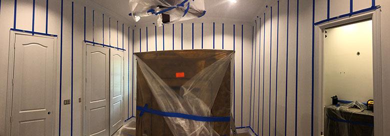 Naples Bedroom Stripe Painting